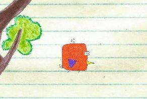 Flappy Doodle Cube Bird